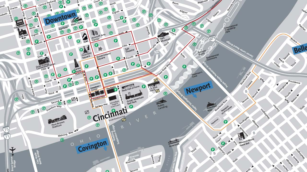 then and now an interactive look at downtown cincinnati s past