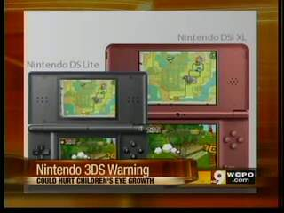 Nintendo warns young children should not use 3DS
