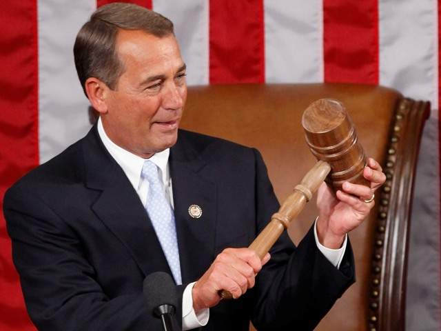 Boehner and his big gavel