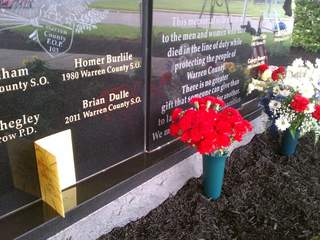 Sgt. Brian Dulle's name added to memorial for fallen officers_20110512170718_JPG