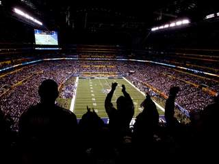 Fans at Super Bowl XLVI