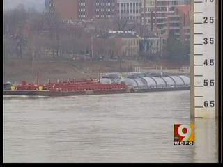 More barge traffic and less debris on Ohio River