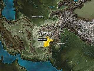 Afghanistan locator map