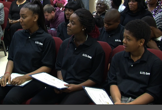 Students graduating first boot camp presented by Cincinnati Police