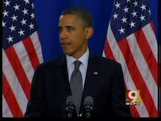 Obama speaks in Cleveland