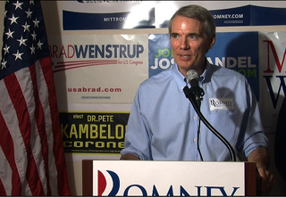 Rob Portman at Sycamore Twp office