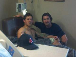 Christian Bale and Carey Rottman