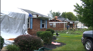 Storm damage in Stonelick Twp