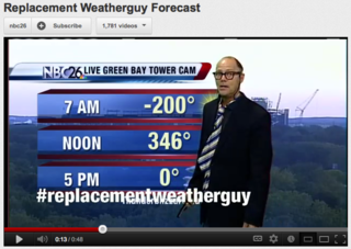 Replacement weather guy