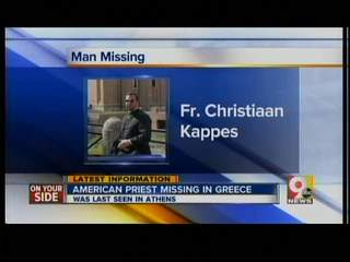 American priest missing in Greece