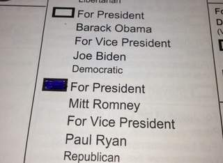 Picture of ballot