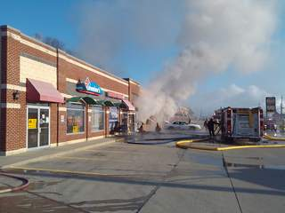 Lawrenceburg US 50 fire