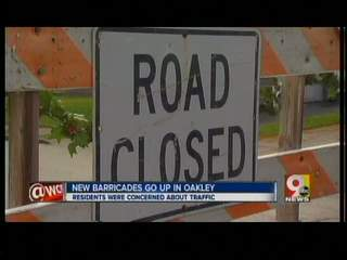 New road closure signs in Oakley