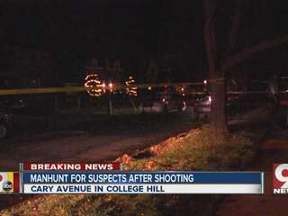 Police search for suspects in College Hill shooting