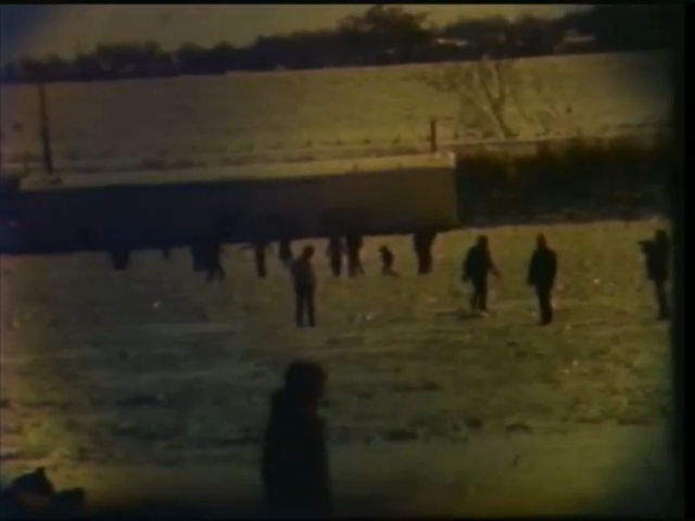 Ohio River during 1977 freeze