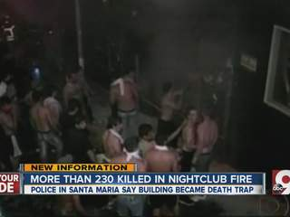 A fire at a club in Brazil kills 230 people
