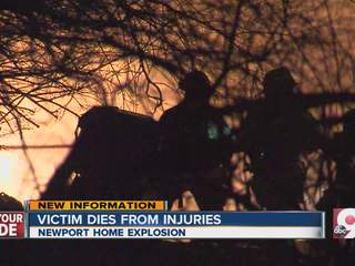Man critically injured in explosion dies