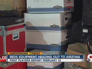 Reds equipment head to Arizona