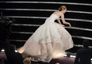 Jennifer Lawrence fall at Oscars