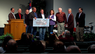 Check presentation at Piner Baptist Church