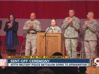 Send-off event held for local soldiers