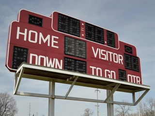 High school football scoreboard, schedule