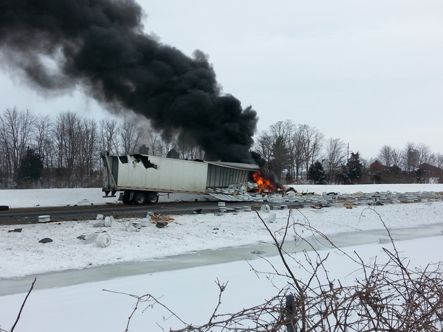die in fire ...I 71 Accident Ohio