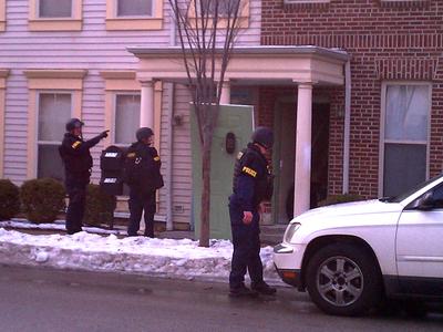 police conduct gang raid