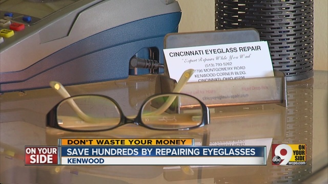 how to fix cracked eyeglass frames