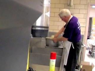 Elder principal molds minds with pancakes