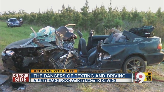 Videos Of Car Crashes Due To Texting