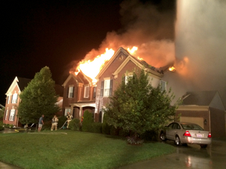 Lightning causes two house fires