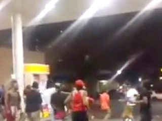 Shooting at gas station near UC caught on video