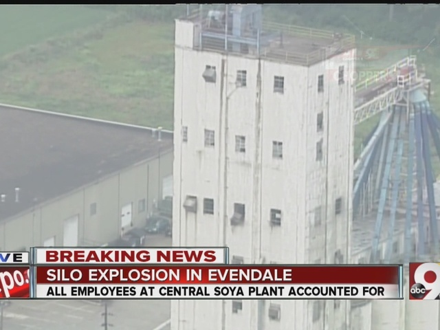 Explosion starts fire at Evendale grain elevator