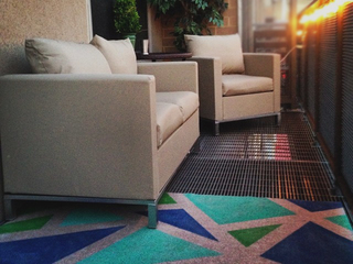 It came from Pinterest! 4 steps to outdoor rug