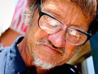 Helper to homeless fears homelessness himself