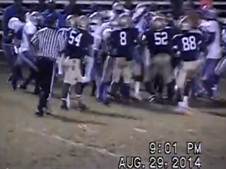 WATCH: Fight in stands, on field during HS game