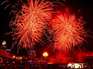 Eat, drink -- and watch Riverfest fireworks, too