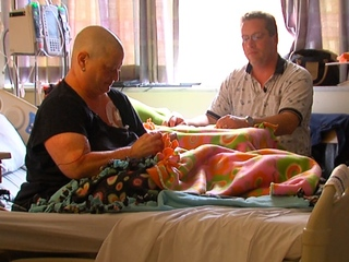 Cancer patient knits, brings warmth to others