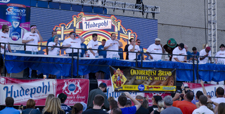 Lacheys, Joey Chestnut compete in brat contest