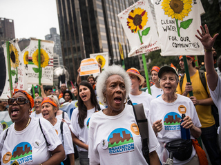 Global marches draw attention to climate change