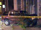 Vehicle crashes into building on Vine Street