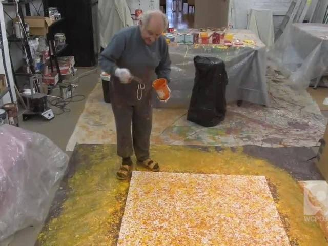 WATCH: At 85, Dick Waller paints a third career