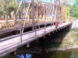 WATCH: Historic Stonelick bridge being rebuilt