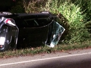 Woman cut out of vehicle after crash in Colerain