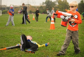 Epic Nerf battle: Plenty of fun, but no record