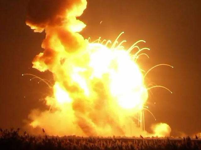 Nasa Rocket Launch Explosion
