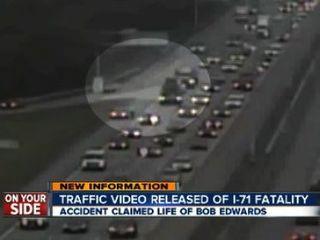 Video shows Bob Edwards walk into traffic twice