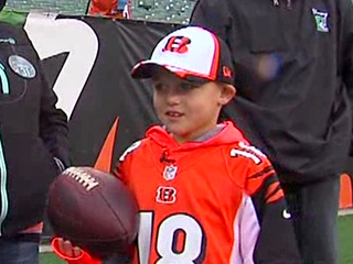 Bengals show heart by welcoming ailing boy