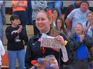 Lauren Hill's high school surprises her